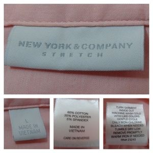 New York & Company Tops - New York & Company Top L Pink-Salmon Ruched Sides